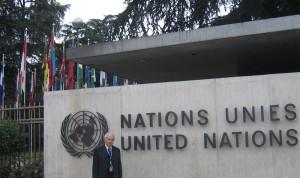 Aureli Argemí, a la seu de l'ONU a Ginebra (setembre de 2008).