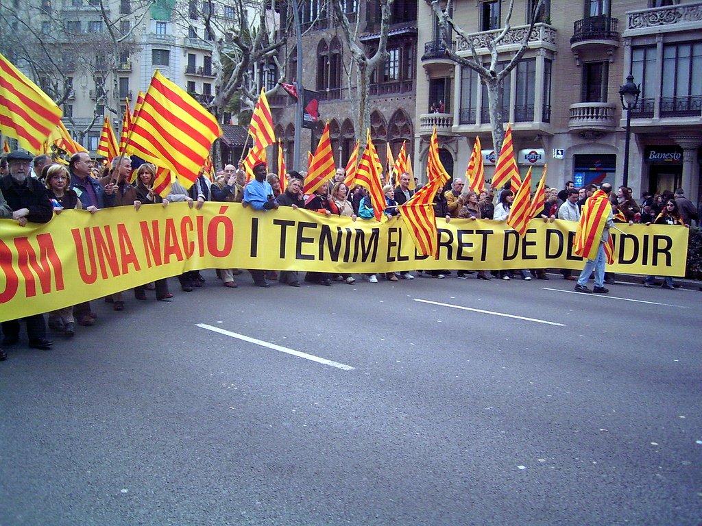 Manifestació de la PDD a Barcelona (febrer de 2006).